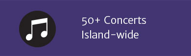 50+ Concerts Island-wide